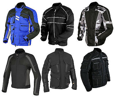 Men's Armoured WaterProof Cordura Textile Motorbike Motorcycle Jacket-Windproof