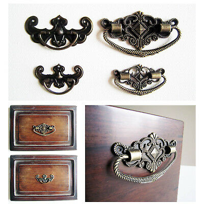 6pcs Antique Brass Bronze Jewelry Box Drawer Cabinet Cupboard Handle Pull Knob