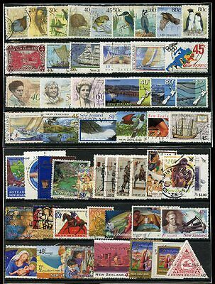 NEW ZEALAND 1988-2005 COLLECTION FINE USED SETS + SINGLES 206 stamps