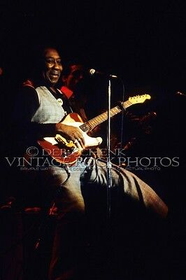 Muddy Waters Photo 8x12 or 8x10 inch Live Concert 1977 Uptown Kansas City MO  D7