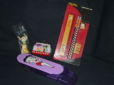 Betty Boop Bundle with stationary kit, pencil case, wallet, figurine