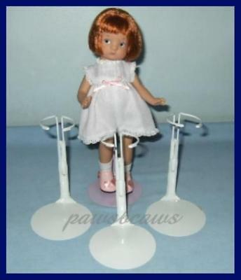 "3 NEW White KAISER Doll Stands for Effanbee 9"" PATSYETTE 8"" Shirley Temple"