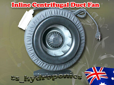 """6"""" Inline Centrifugal Exhaust Vent Fan Blower 155W Metal Blade W Leather Jacket"""
