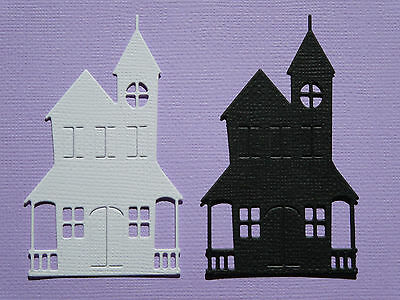 House Paper Die Cuts  x 10 Scrapbooking Card Topper Embellishment - NOT a DIE