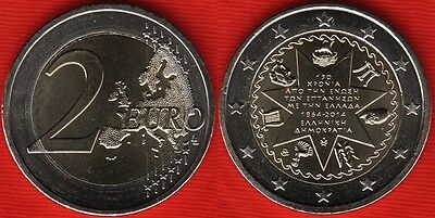 Greece 2 euro 2014 Union of Ionian Islands with Greece 150 Bimetal Grecia UNC