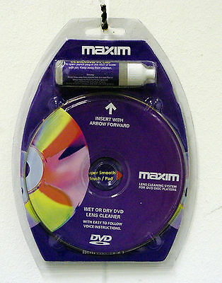 Wet Or Dry Dvd And Blu-Ray Lens Cleaner With Cleaning Fluid In Blister Pack