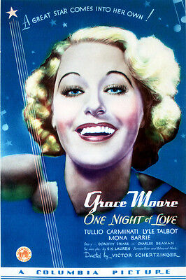 One Night of Love Grace Moore Fine Art poster reproduction artwork