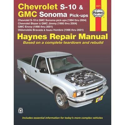 Haynes Repair Manual New For Chevy Olds S10 Pickup Chevrolet S 10 99043 Sudlabo Fr