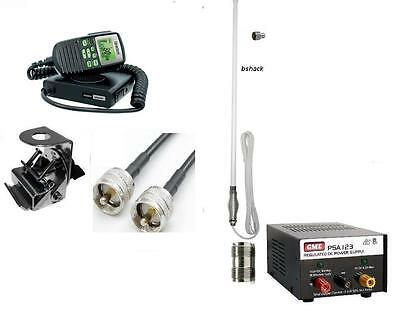 Uniden Uh5060Nb 80Ch 5W Uhf Radio+Ch5Twt Antenna+10M Ext Cable Home Base Set Up