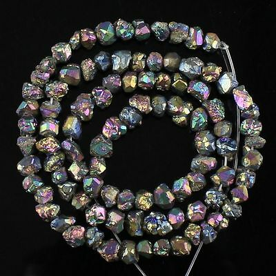 1079 Plating color pyrite loose beads 96pcs
