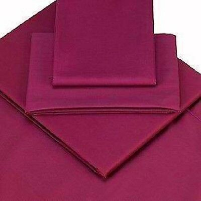 """King Bed Size Aubergine Percale 200 Thread, 26"""" Extra Deep Fitted Valance Sheet"""
