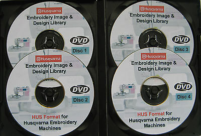 139,877 HUSQVARNA EMBROIDERY Machines HUS Format Designs Patterns 4 DISC BOX SET