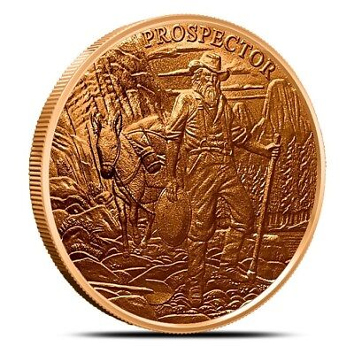 Provident Mint Prospector 1 oz .999 Copper BU Round USA Made Bullion Coin