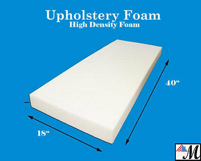 """Seat Foam Cushion Replacement Upholstery Per Sheet - All Sizes! 18""""x40"""""""