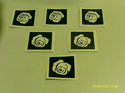 10 - 400 Rose flower stencils for etching on glass Christmas hobby craft present