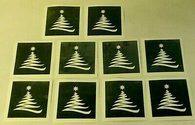 10 - 400 Christmas tree stencils for etching on glass hobby present glassware