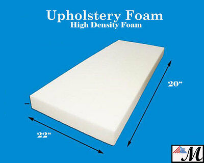 """Seat Foam Cushion Replacement Upholstery Per Sheet - All Sizes! 22""""x20"""""""