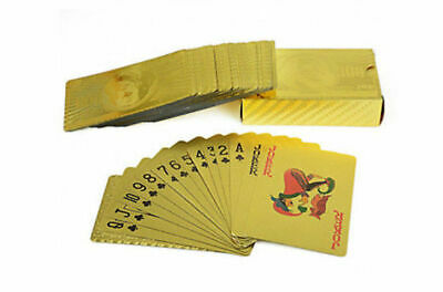 24K 999.9% Gold Foil Plated Poker PLAYING CARDS Deck Christmas GIFT New