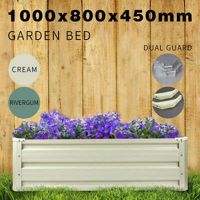 Galvanised Steel Raised Garden Bed Veggie Flower Rectangle Planter Box