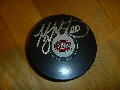 Manny Maholtra Montreal Canadiens Signed/Auto Puck  COA