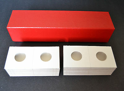 100 -2x2 cardboard mylar coin holders flips for PENNY,CENT with STORAGE BOX NEW!