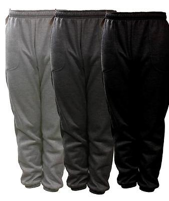 New Mens Plain Fleece Jogger Drawstring Sweat Pants S M L Xl 2Xl 3Xl 4Xl 5Xl
