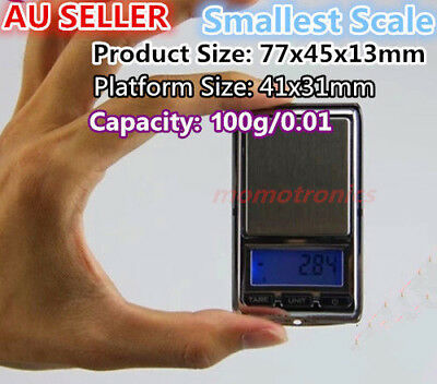 Smallest Pocket Digital Scale Jewelry 200g/0.01g very small electronic scale AU