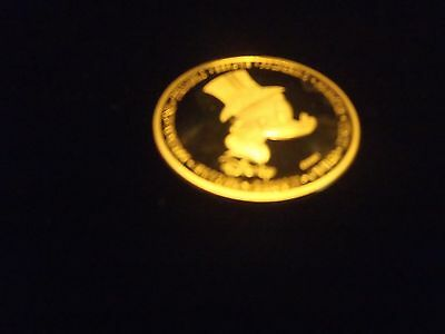 Rare! Gold Plated Walt Disney The First Euro of Uncle Scrooge Coin