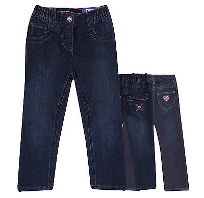 Girls Fully Lined Elasticated Waist Winter Jeans Trousers 12 18M 2 3 4 5 6 Year