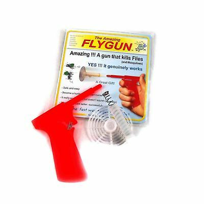 Fly Gun Shooting Toy Mosquito Flies Spinning Disc Home Game New
