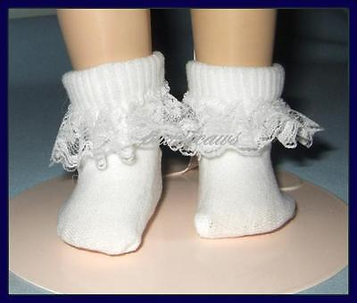 "Lace Ruffle Trim Ankle SOCKS Anklets for Ideal 16"" SHIRLEY TEMPLE"