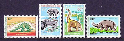 Congo/People's Rep. SC#229-32 MNH, (4) stamp Dinosaurs Set issued in 1970/