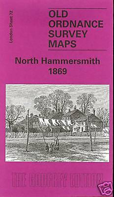 Old Ordnance Survey Map North Hammersmith 1869