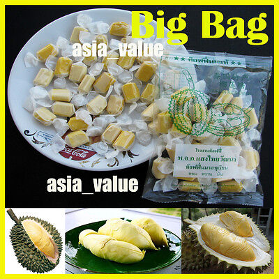 Amazing Candy Durian Toffee Thai Fruit Durian Monthong Thailand ( Big Bag 110g.)