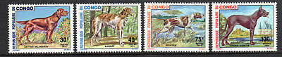 Congo/People's Rep. SC#308-11 MNH, (4) stamp Dog Breed Set issued in 1974/