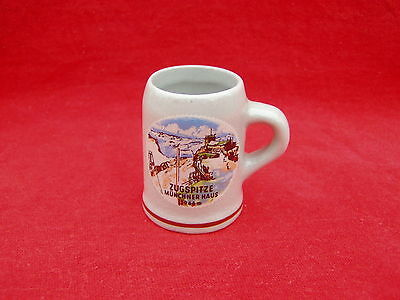 Older Mini Mug / Stein Ceramic Shot Glass  Zugspitze  Germany