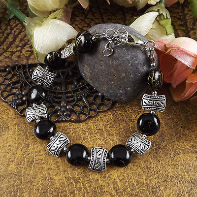 Free shipping New Tibet silver multicolor jade turquoise bead bracelet S06