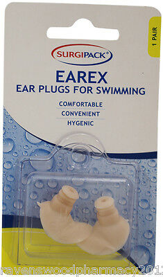 1 x Surgi Pack SurgiPack Earex Ear Plugs for Swimming 1 Pair ::Comfortable::