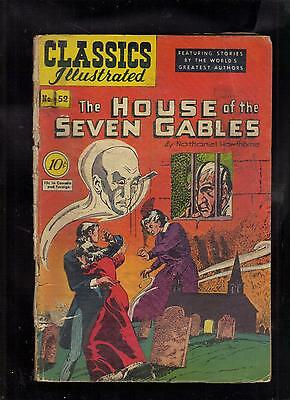 Classics Illustrated #52 Fair/poor  Hrn53 (O) House Of The Seven Gables 1St Ed