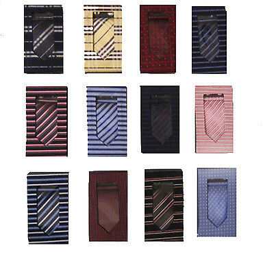 Men's Tie, Handkerchief, and Cufflink Box Set - Many Colors - Swallow Flight