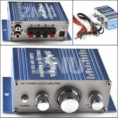 Mini Power HI-FI Amplifier AMP Audio Stereo 2CH for Car Boat Motorcycle Home MP3