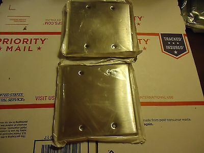 Leviton stainless steel double wall cover 4 1/2 x 4 1/2