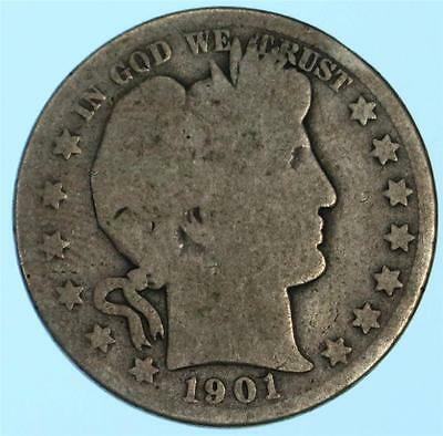 Better Date/Mint 1901-O Barber Half Dollar US 90% Silver Coin Lot H942