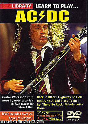 GUITAR DVD Learn to Play AC/DC 1 Angus Young Lick Library BACK IN BLACK LESSON