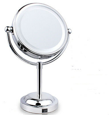 Desktop Beauty Makeup Mirror with light Sided Magnifying Cosmetic lighted Mirror