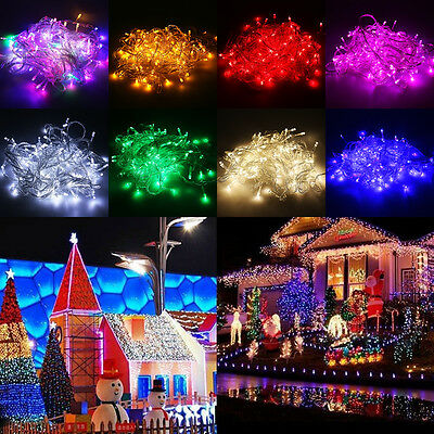 10M/20M LED Bulb Christmas Tree Garden Deco Fairy Party String Lights Waterproof