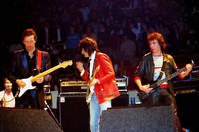 Eric Clapton Photo Bill Wyman, Ron Wood 8x12 or 8x10 inch 1983 ARMS Concert 26