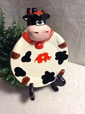 Cow Plate From Switzerland Comic