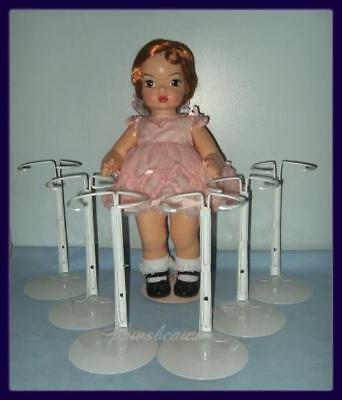 6 White KAISER Doll Stands for TERRI LEE Jerri Lee