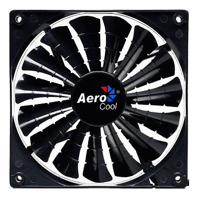Aerocool Shark Black Edition Lüfter - 140mm, 1.500 rpm